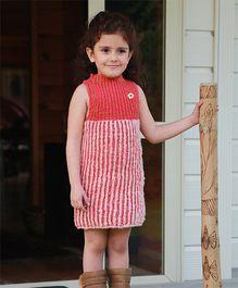 Dress My Angel Organic Hand Knitted Reversible Tunic - Pink