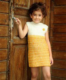Dress My Angel Organic Hand Knitted Reversible Tunic - Yellow