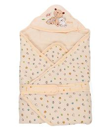 Baby Sleeping Bag Bear Patch - Cream