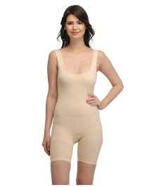 Clovia High Compression Body Shaping Suit - Beige