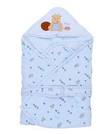 Baby Sleeping Bag Bear Patch - Light Blue