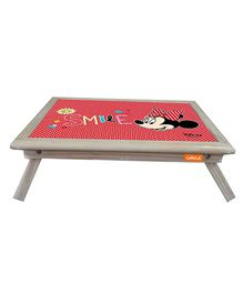 Orka Minnie Smile Digital Printed Folding Laptop Table - Red