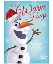 Orka Wall Poster Frozen Olaf Digital Print With Lamination - Blue
