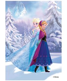 Orka Wall Poster Frozen Elsa And Anna Digital Print With Lamination - Blue
