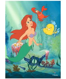 Orka Wall Poster Ariel Princess Digital Print With Lamination - Green And Blue