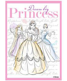 Orka Wall Poster Princess Dream Big Digital Print With Lamination - Pink And White
