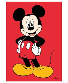 Orka Wall Poster Disney Mickey Mouse Digital Print With Lamination - Red
