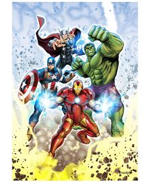 Orka Wall Poster Marvel Team Avengers Digital Print With Lamination - Multi Color
