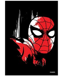 Orka Wall Poster Marvel Spiderman Face Digital Print With Lamination - Red And Black