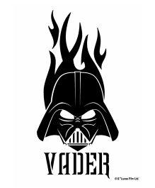 Orka Wall Poster Starwars Vader Face Digital Print With Lamination - Black