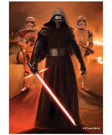 Orka Wall Poster Starwars Darth Vadar With Troopers Digital Print With Lamination - Brown