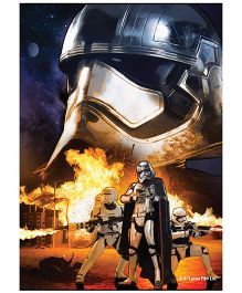 Orka Wall Poster Starwars Storm Trooper Digital Print With Lamination - Blue And Yellow