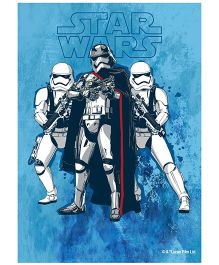 Orka Wall Poster Starwars Team Storm Trooper Digital Print With Lamination - Blue