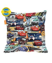 Orka Pixar Cars Comic Digital Printed Polyfill Cushion - Multi Color