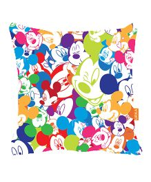 Orka Mickey Faces Digital Printed Micro Beads Cushion - Multicolor