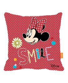Orka Minnie Smile Digital Printed Micro Beads Cushion - Multicolor
