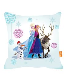 Orka Frozen Digital Printed Micro Beads Cushion - Blue