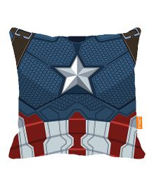 Orka Captain America Star Digital Printed Micro Beads Cushion - Blue