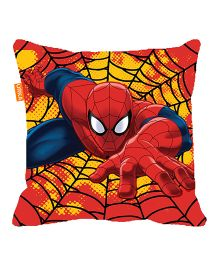 Orka Spiderman Digital Printed Micro Beads Cushion - Red