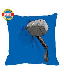 Orka Thor Hammer Digital Printed Micro Beads Cushion - Blue