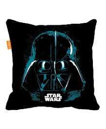 Orka Darth Vader Face Digital Printed Micro Beads Cushion - Black