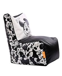 Orka Mickey Mouse Digital Printed Bean Chair XL Cover - Black White