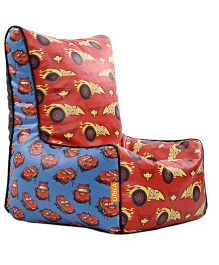 Orka Pixar Cars 95 Digital Printed Bean Chair XL Filled With Beans - Red And Blue