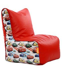 Orka Pixar Cars Digital Printed Bean Chair XL Filled with Beans - Red