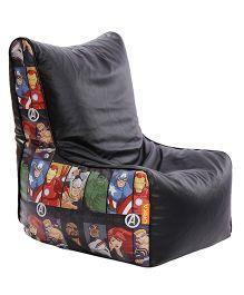 Orka Avengers Digital Printed Bean Chair XL Cover - Multi Color Black