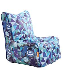 Orka Avengers Digital Printed Bean Chair XL Filled with Beans - Blue