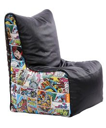 Orka Marvel Comics Digital Printed Bean Chair XL Filled with Beans - Black