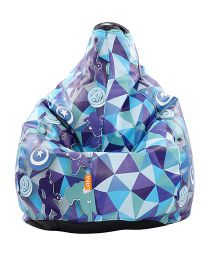Orka Avengers  Digital Printed Bean Bag XL Filled with Beans - Blue