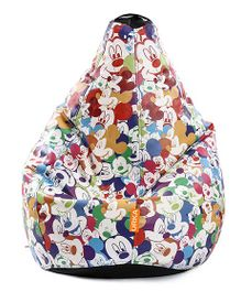 Orka Mickey Mouse Digital Printed Bean Bag XL Cover - Multi Color