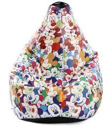 Orka Mickey Mouse Digital Printed Bean Bag XL Filled with Beans - Multi color