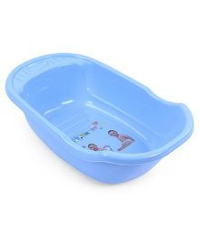 Baby Bath Tub Happy Print - Blue