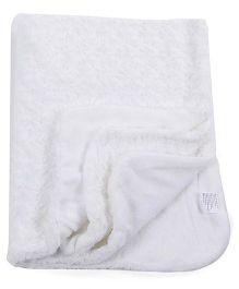 Abracadabra Reversible Luxury Blanket - White