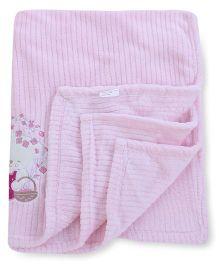 Abracadabra Embroidered Luxury Blanket - Pink