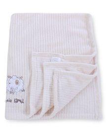 Abracadabra Embroidered Luxury Blanket Sheep Design - Cream