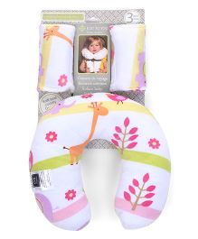 Abracadabra Baby Neck Pillow With Fabric Grips - Multicolor