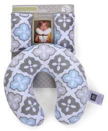 Abracadabra Baby Neck Pillow With Fabric Grips - Grey Blue