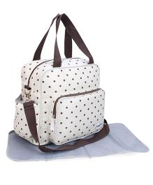 Abracadabra Diaper Bag With Changing Mat - Khaki Brown Blue