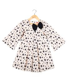 Hugsntugs Star Print Dress - Peach