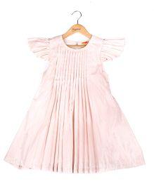 Hugsntugs Pleated Dress - Peach