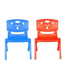 Sunbaby Magic Bear Chair Set Of 2 - Blue & Orange