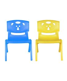 Sunbaby Magic Bear Chair Set Of 2 - Blue & Yellow