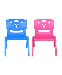 Sunbaby Magic Bear Chair Set Of 2 - Blue & Pink