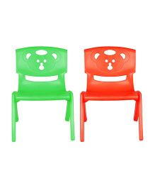 Sunbaby Magic Bear Chair Set Of 2 - Orange & Green