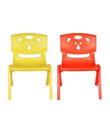 Sunbaby Magic Bear Chair Set Of 2 - Orange & Yellow