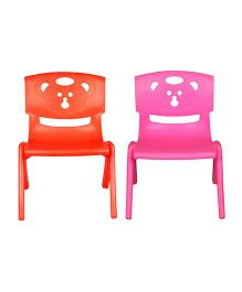 Sunbaby Magic Bear Chair Set Of 2 - Orange & Pink