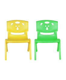 Sunbaby Magic Bear Chair Set Of 2 - Green & Yellow